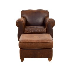 Leather Chair Ottoman Wicker Fan Back Shop Quality Second Hand Furniture