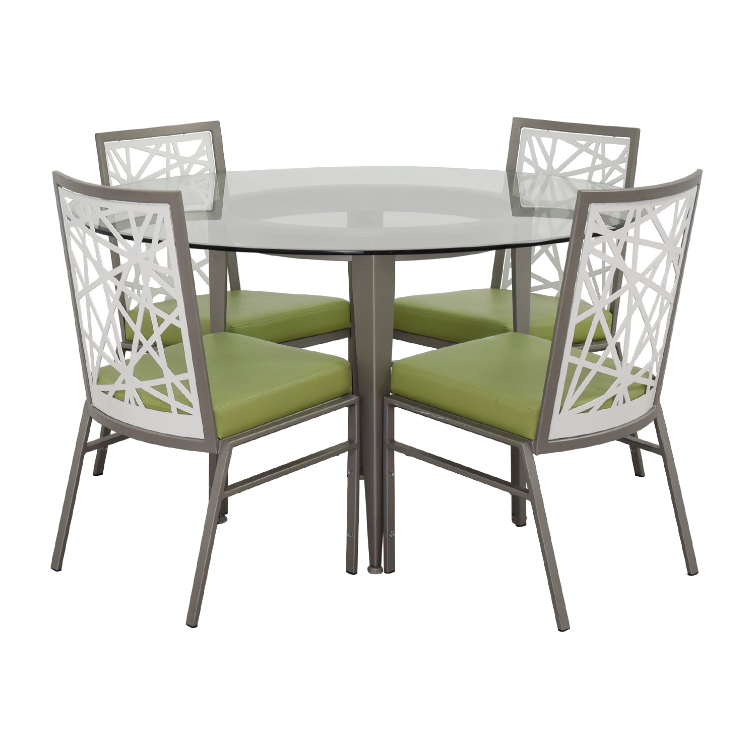 modern green dining chairs sofa chair covers nz 90 off bif furniture silver and