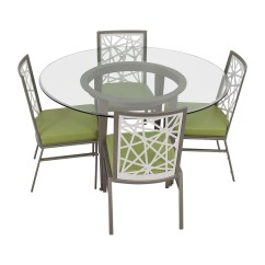 Modern Green Dining Chairs Canvas Material For Deck 90 Off Bif Furniture Silver And