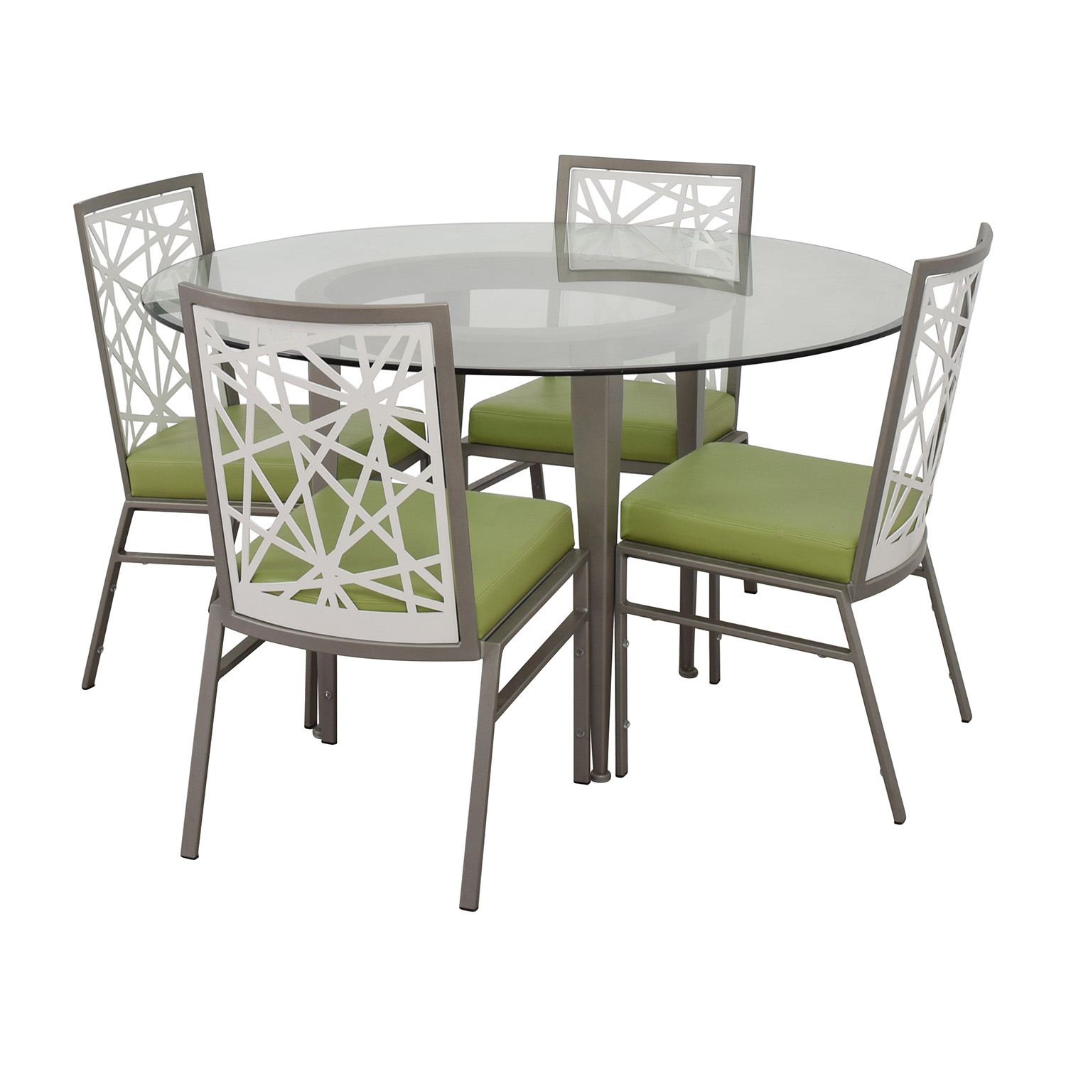 modern green dining chairs anti gravity chair tray 90 off bif furniture silver and