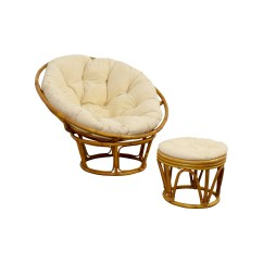 Papasan Chair Ottoman Barber Repair 68 Off Pier 1 With Footstool Chairs
