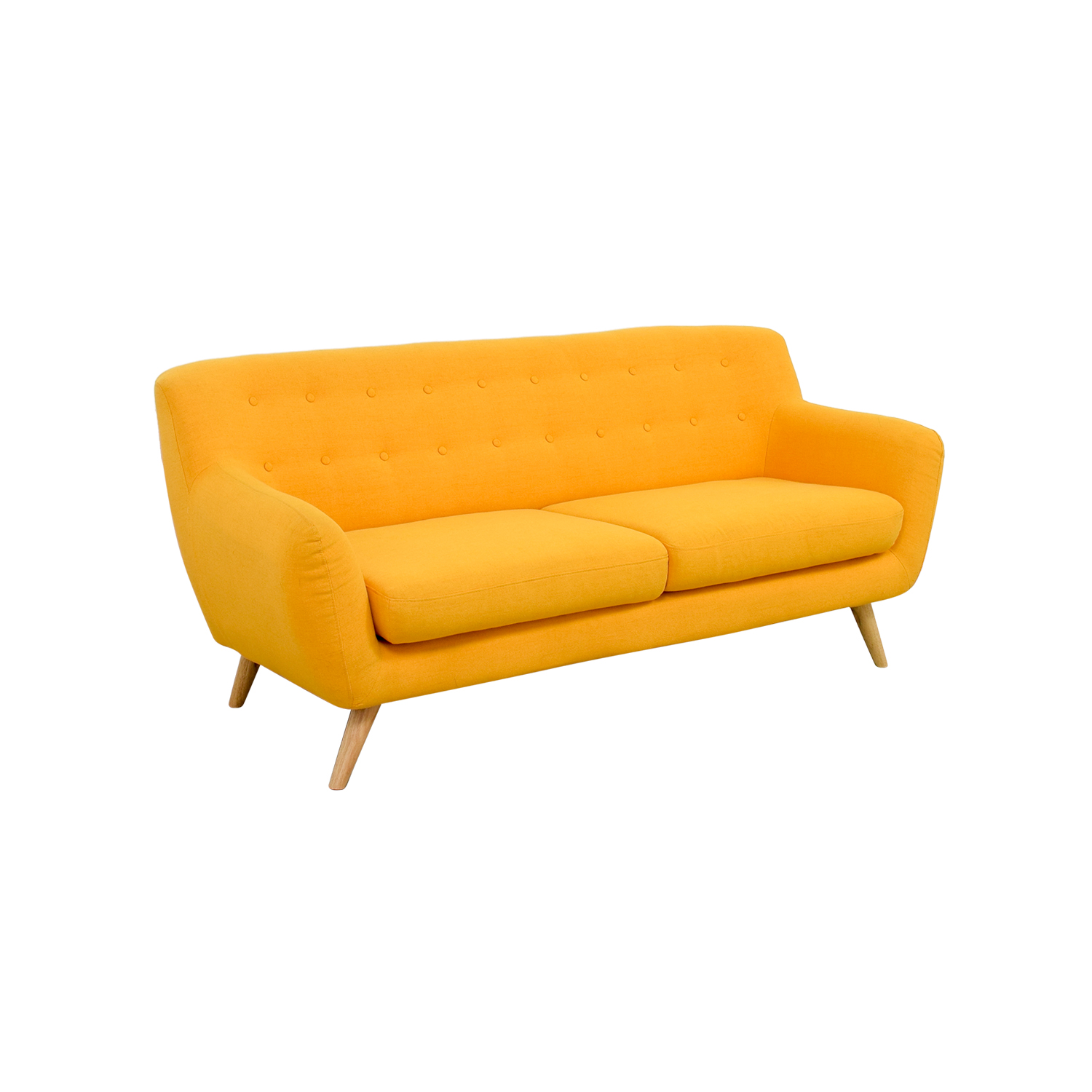 yellow sofa table gus atwood review mustard baci living room