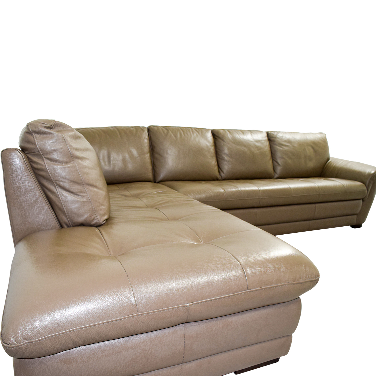 raymour and flanigan chairs special tomato chair 72% off - & garrison tufted leather sectional / sofas