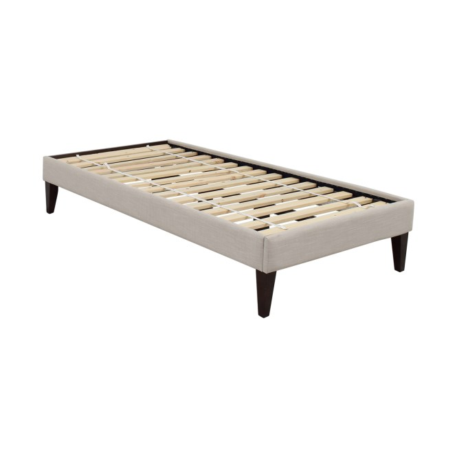 West Elm Narrow Leg Upholstered Twin Bed Frame