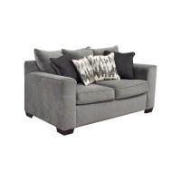 44% OFF - Bob's Furniture Bob's Furniture Grey Loveseat ...