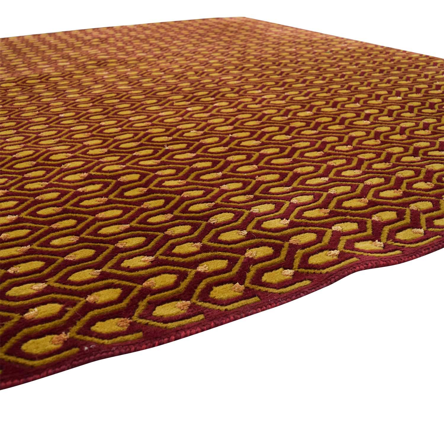 80 OFF  Red and Gold Rug  Decor