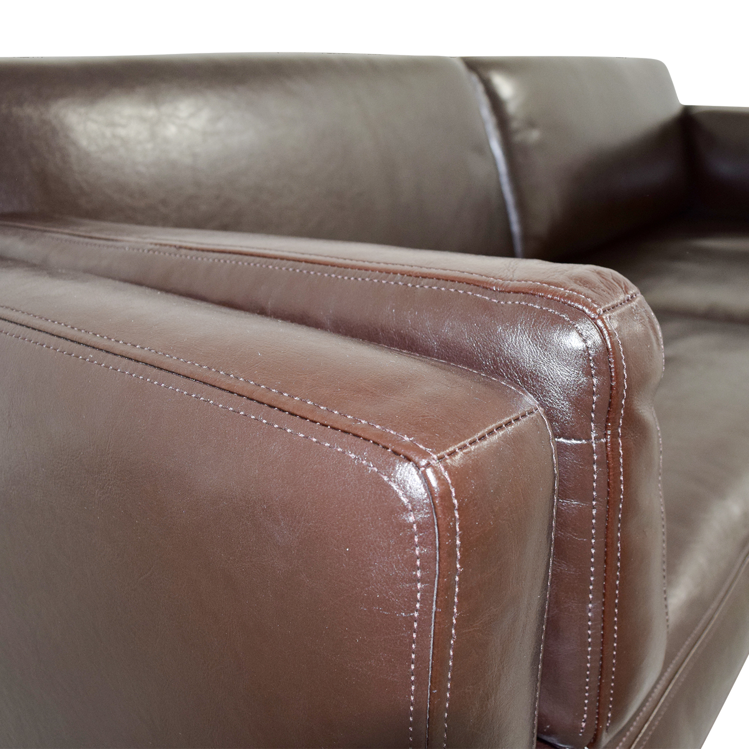 room and board leather sofa bed how much does it cost to reupholster a 41 off ikea ieka sater brown couch sofas
