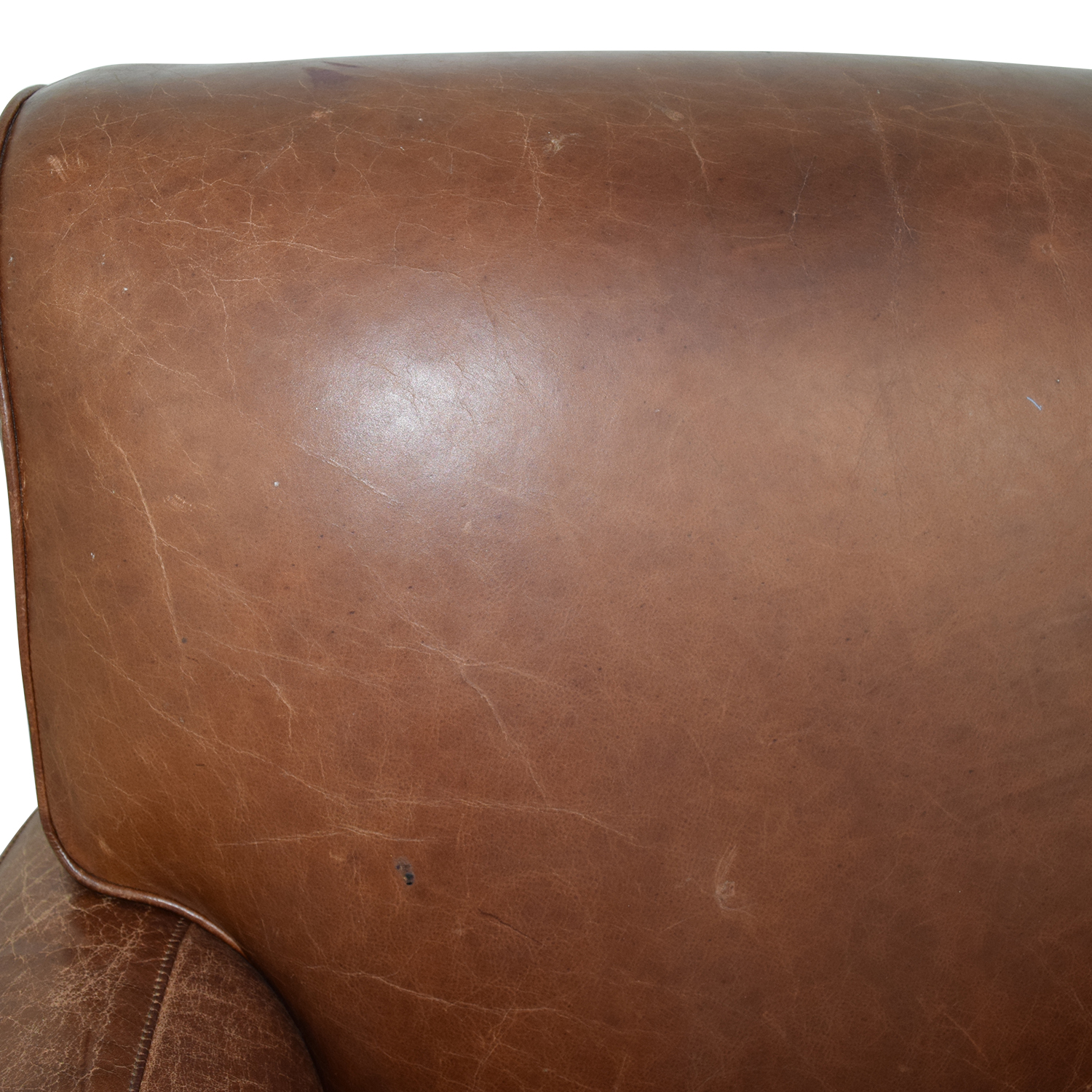 pottery barn club chair stool making 54 off manhattan brown