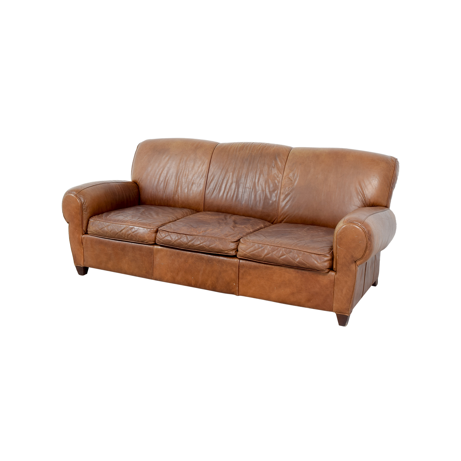 manhattan sofa pottery barn lodge style sofas 73 off leather