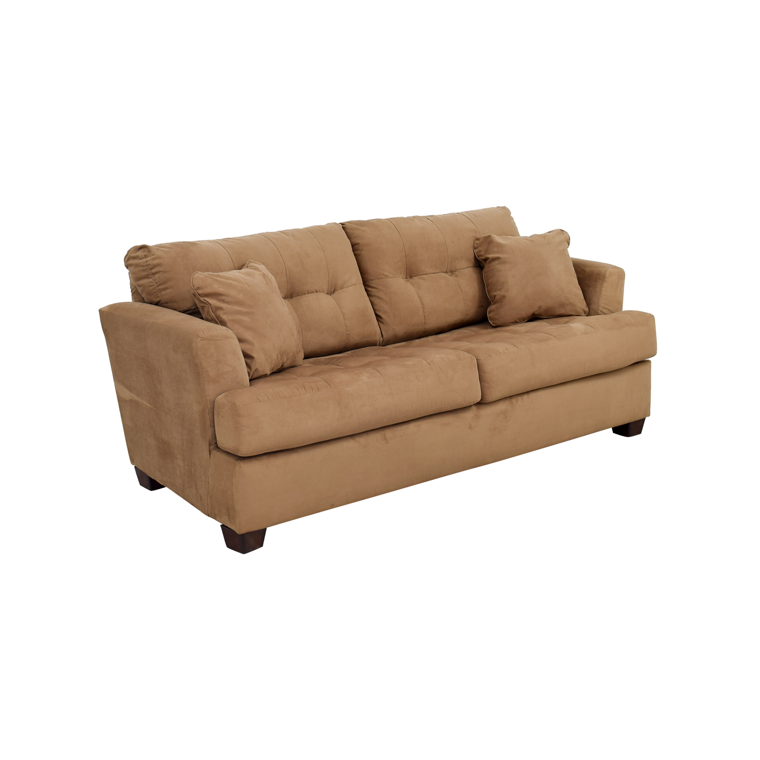 microfiber sofa bed heated set tan couch and loveseat