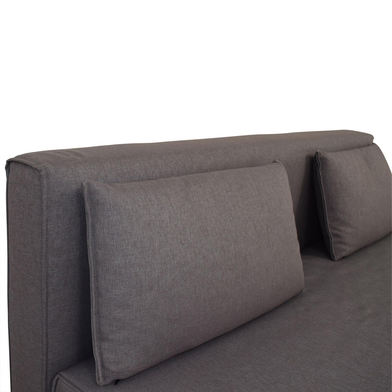 dwr sleeper sofa leather sofas 84 off design within reach grey