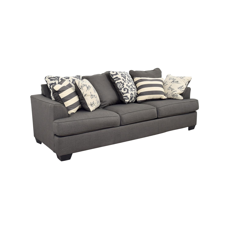 navasota charcoal sofa ashley furniture dfs sofas edinburgh grey baci living room