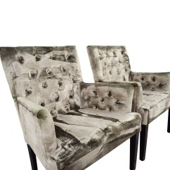 Z Gallerie Chairs Chair Cover Depot Voucher Code 90 Off Lola Bella Grey Tufted Arm