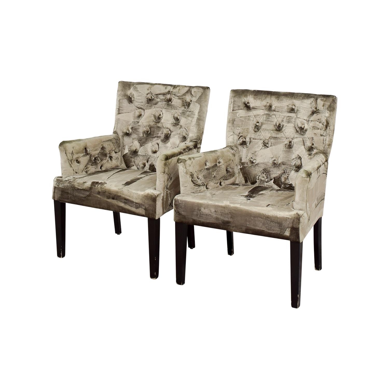 z gallerie office chair bath lift chairs canada 90 off lola bella grey tufted arm