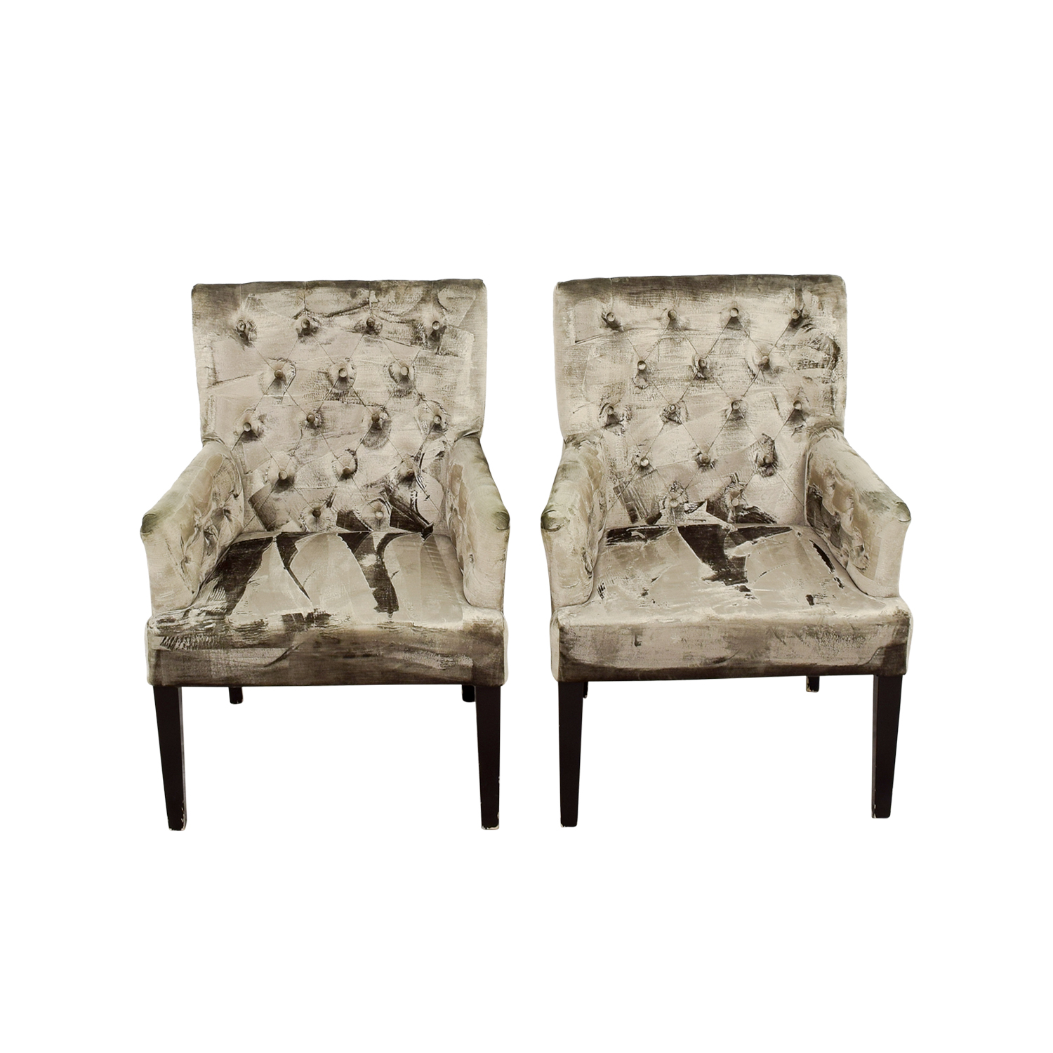 z gallerie chairs american girl doll 90 off lola bella grey tufted arm