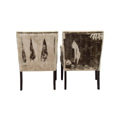 Z Gallerie Chairs Outdoor Composite Rocking 90 Off Lola Bella Grey Tufted Arm