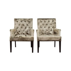 Z Gallerie Office Chair Designer Dining Chairs 90 Off Lola Bella Grey Tufted Arm