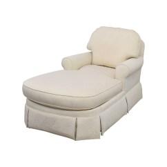 White Chaise Chair Swingasan Hanging 85 Off Ethan Allen Victoria