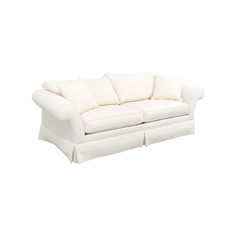 90 OFF  Ethan Allen Ethan Allen Rolled Arm White Sofa