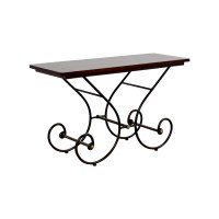 46% OFF - Scroll Metal and Wood Sofa Table / Tables