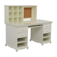 55% OFF - Pottery Barn Pottery Barn White Desk with Cubby ...