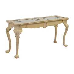 Lexington Sofa Table Love Stanley India 90 Off Natural Wood And Glass