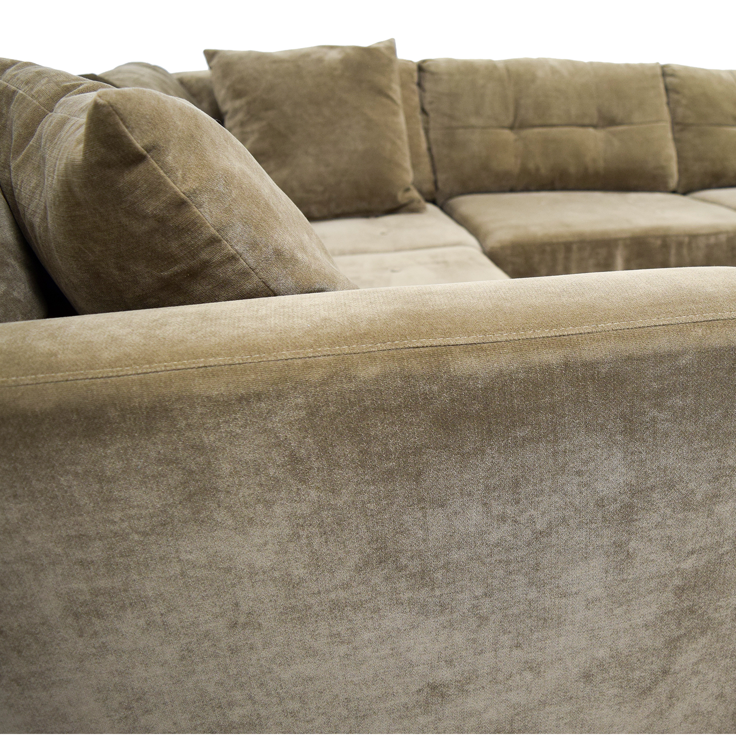macy s elliot sofa low sectional 76 off 39s fabric microfiber two piece