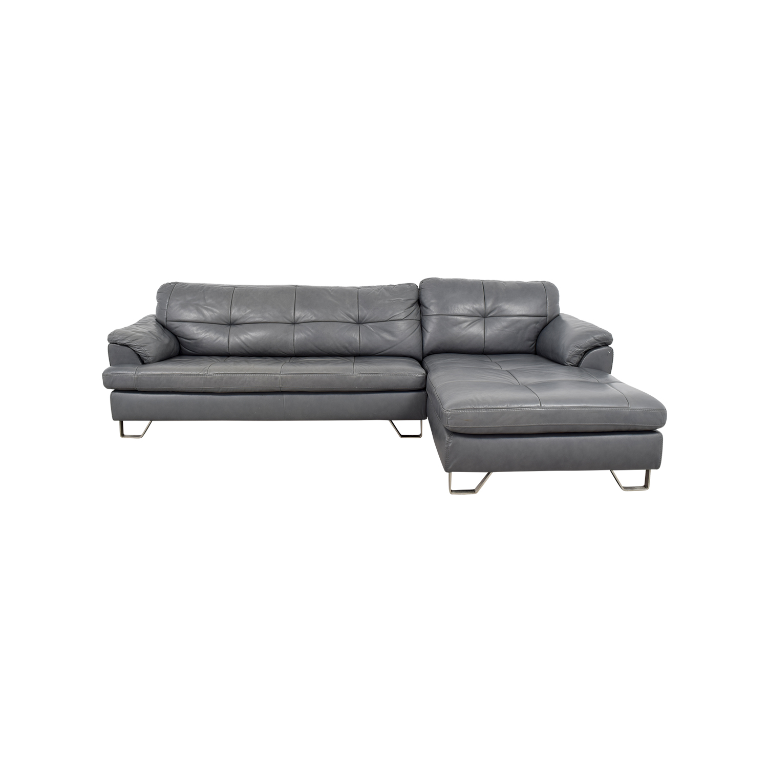 tufted sectionals sofas velvet chesterfield style sofa 83 off ashley furniture gray