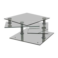 85% OFF - Z Gallerie Z Gallerie Movable Glass Coffee Table ...