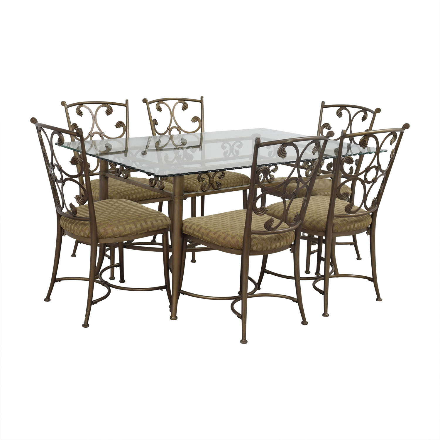 iron chair price swing over canyon 90 off glass and gold wrought dining set tables