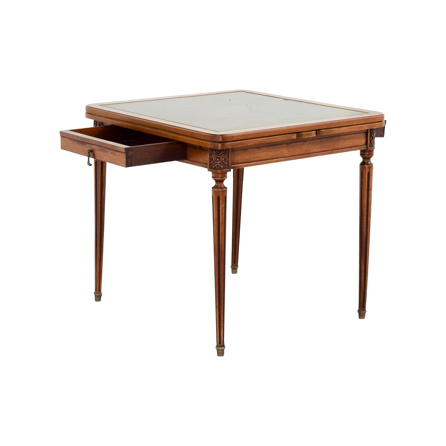 90 OFF  Custom Made French Antic Card Table  Tables