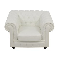 White Tufted Chairs French Print Chair Shop Chesterfield Leather Used Furniture On Sale