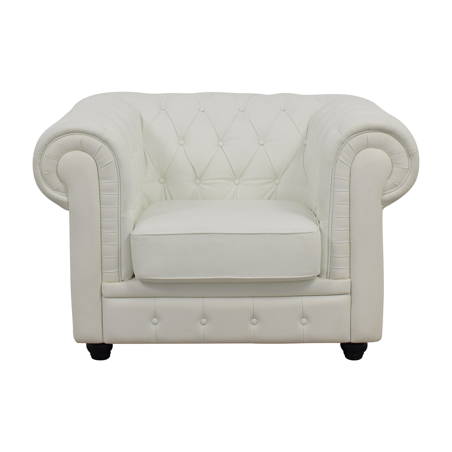 White Tufted Accent Chair 46 Off Ikea Strandmon Accent Armchair Chairs