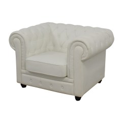 White Tufted Chair Collapsible Garden Chairs 86 Off Chesterfield Leather Accent