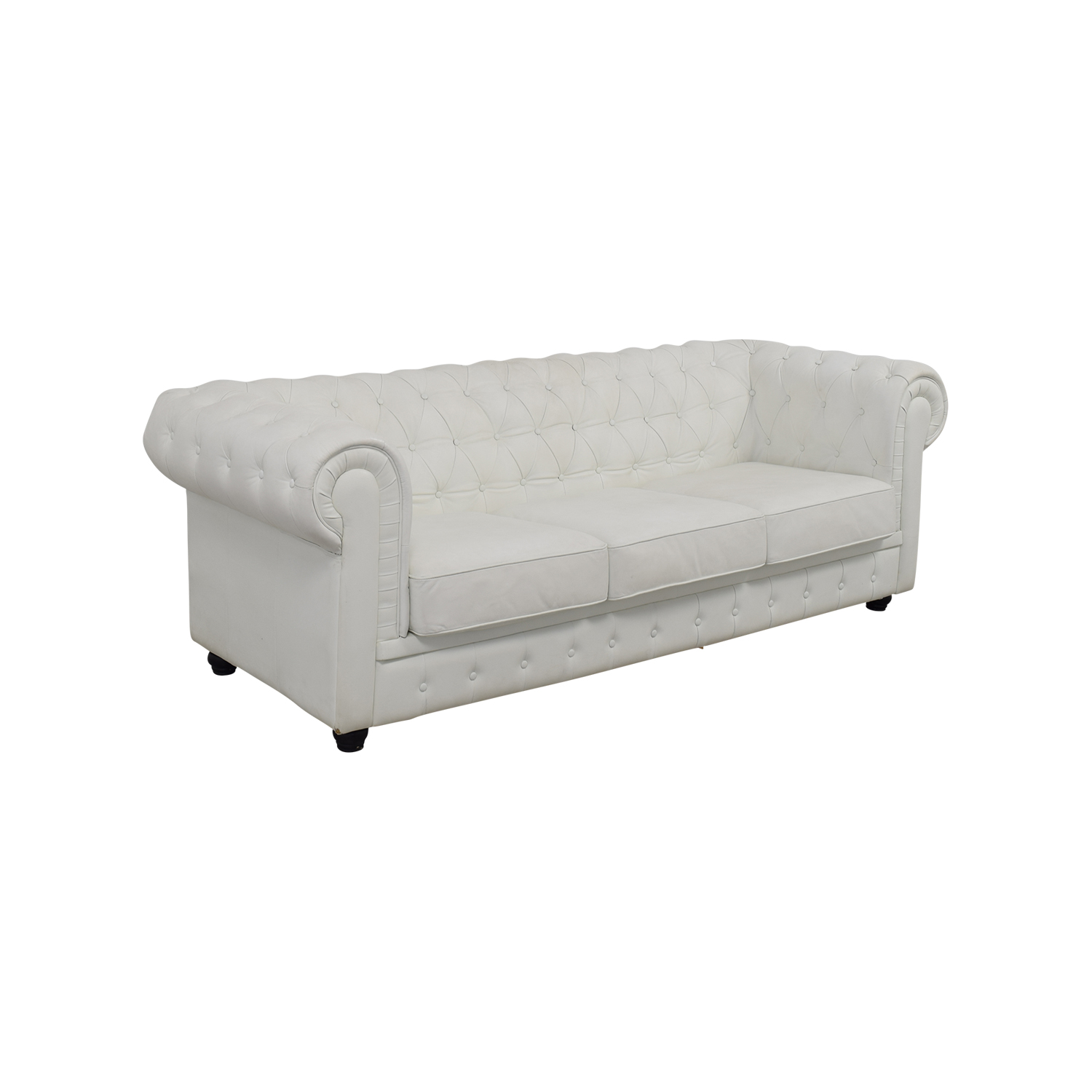 chesterfield sofa leather white modular lounges with bed perth 90 off tufted sofas