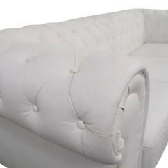 White Tufted Leather Sofa Flip Out Target Australia 90 Off Chesterfield Sofas