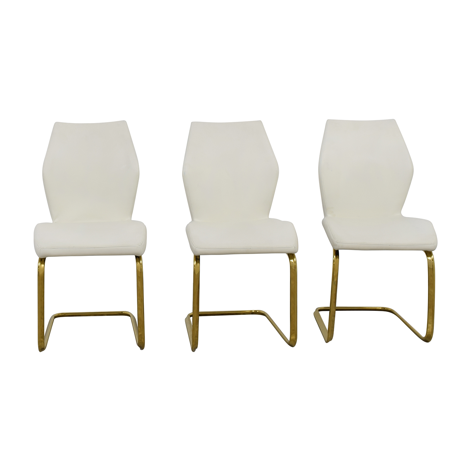white leather chairs dining office chair repair parts used for sale