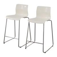 85% OFF - IKEA IKEA White Glen Bar Stools / Chairs
