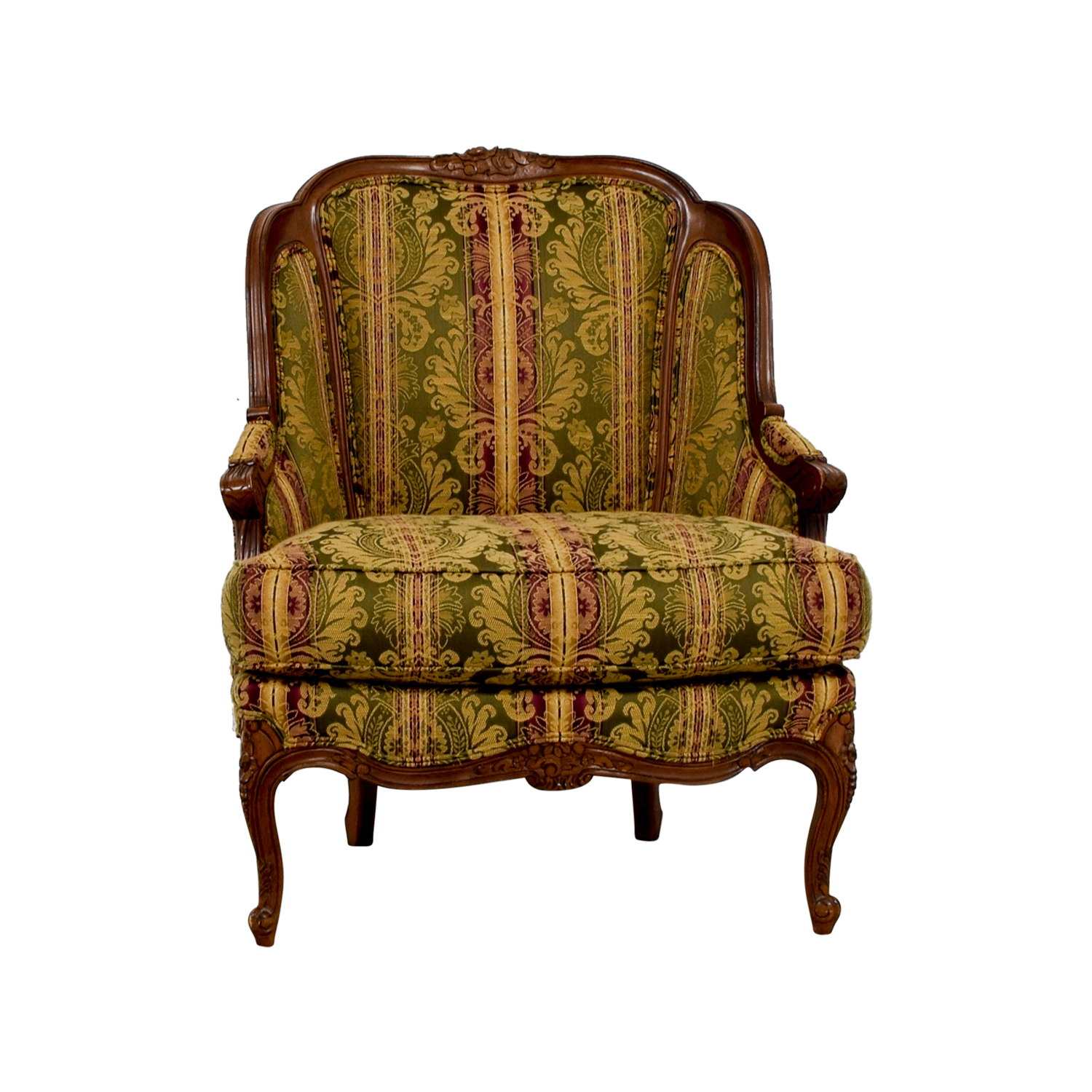 drexel heritage chairs wwe tables ladders and 65 off bergere green gold burgundy chair accent