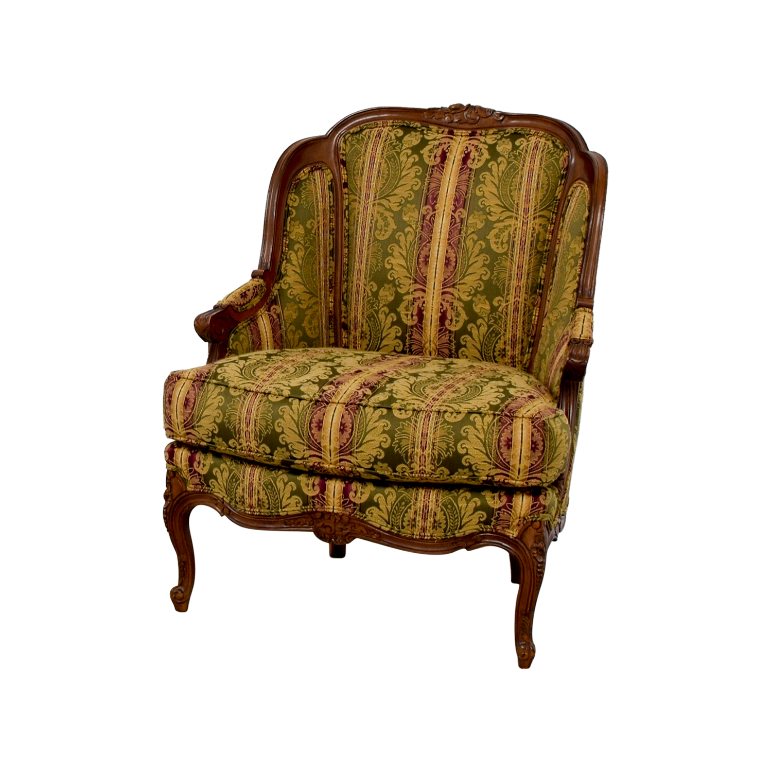 drexel heritage chairs cheetah print accent chair 65 off bergere green