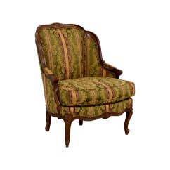 Drexel Heritage Chairs Vintage Club Chair 65% Off - Bergere Green Gold And Burgundy /