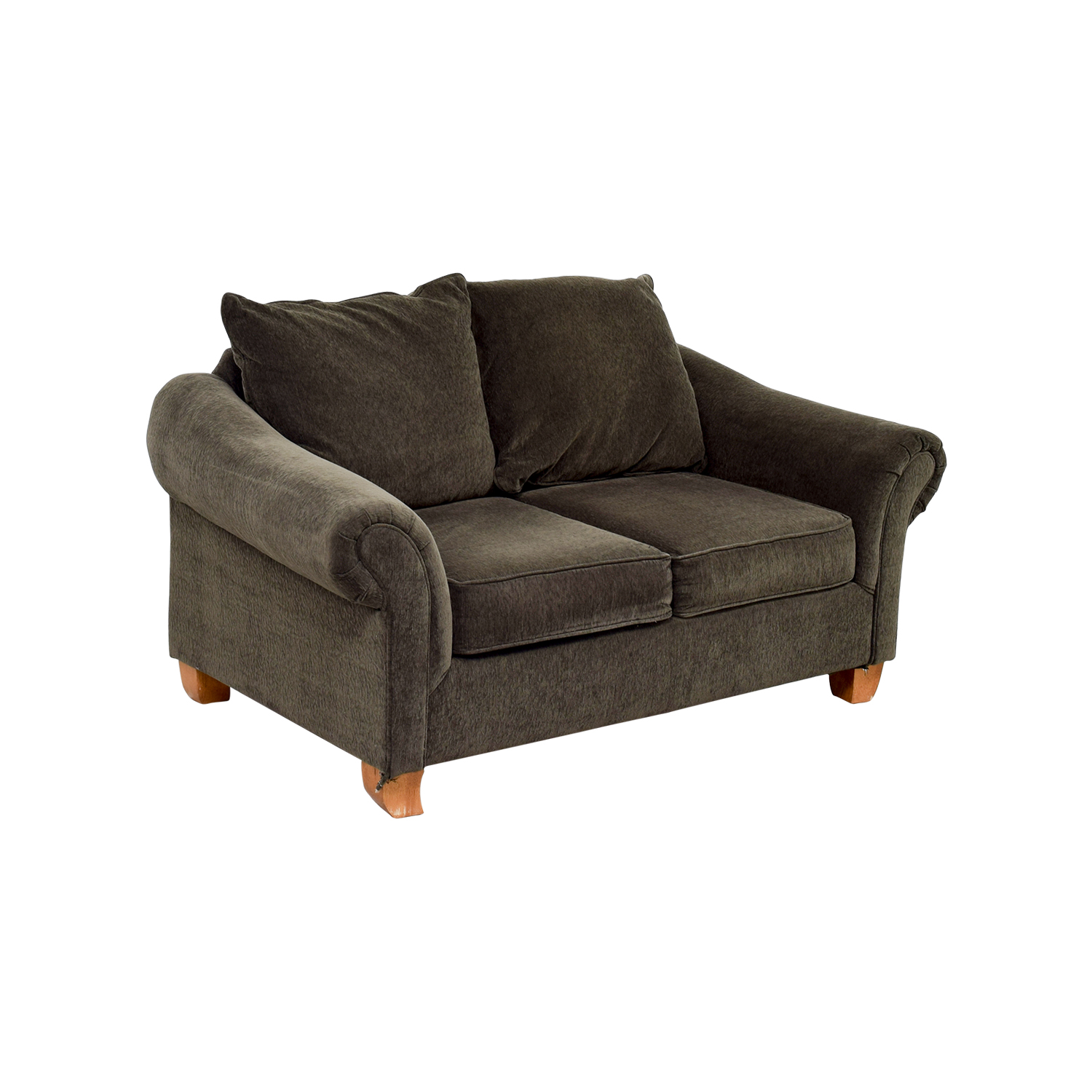 star furniture sofas darrin leather sofa reviews 40 off brown curved arms