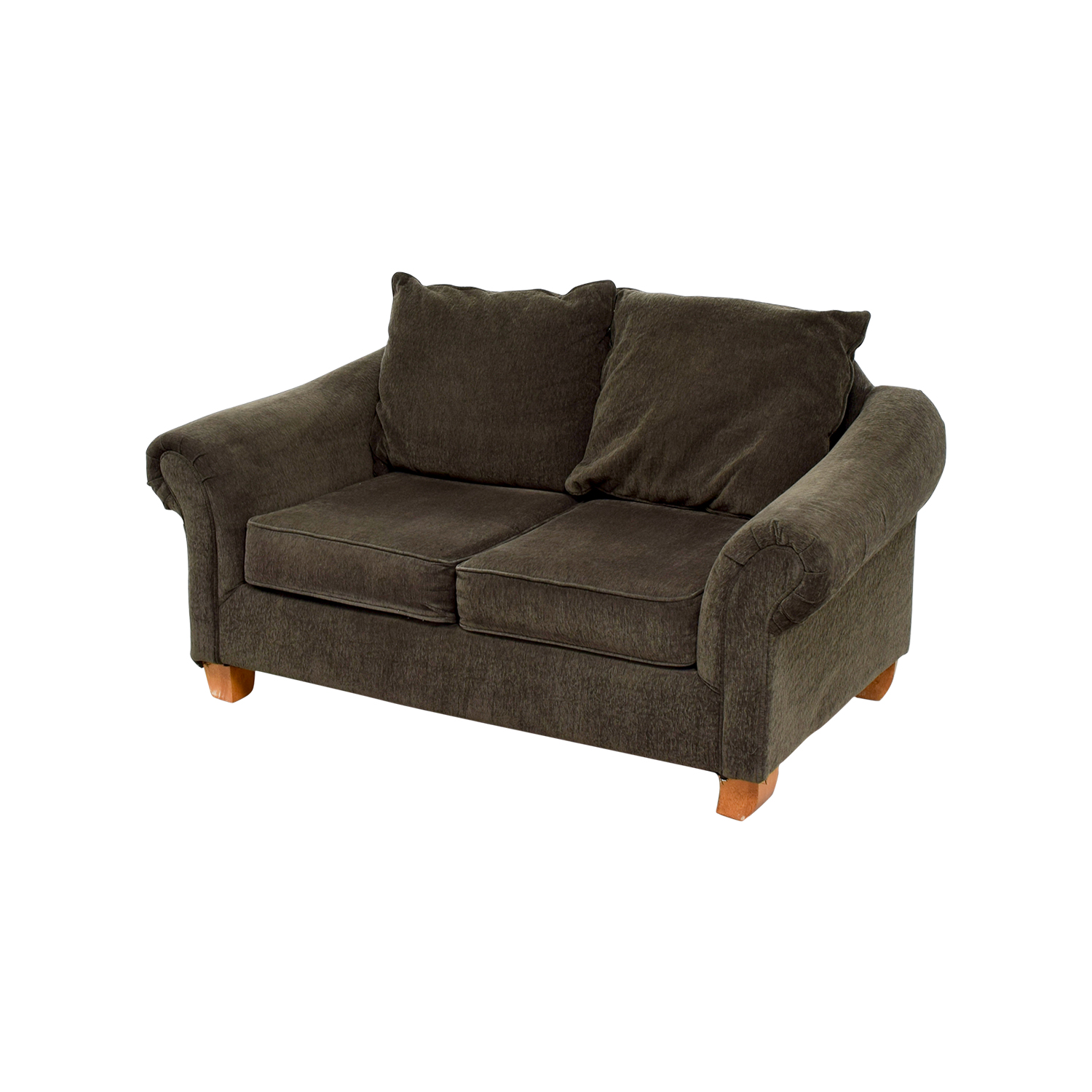 star furniture sofas ashley hodan microfiber sofa chaise 40 off brown curved arms