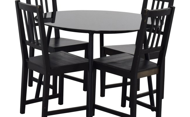 31 Off Ikea Ikea Glass And Wood Table And Chairs Tables