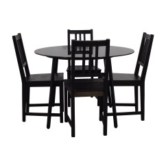 Glass And Wood Dining Table Chairs Swing Chair Models Sets Used For Sale