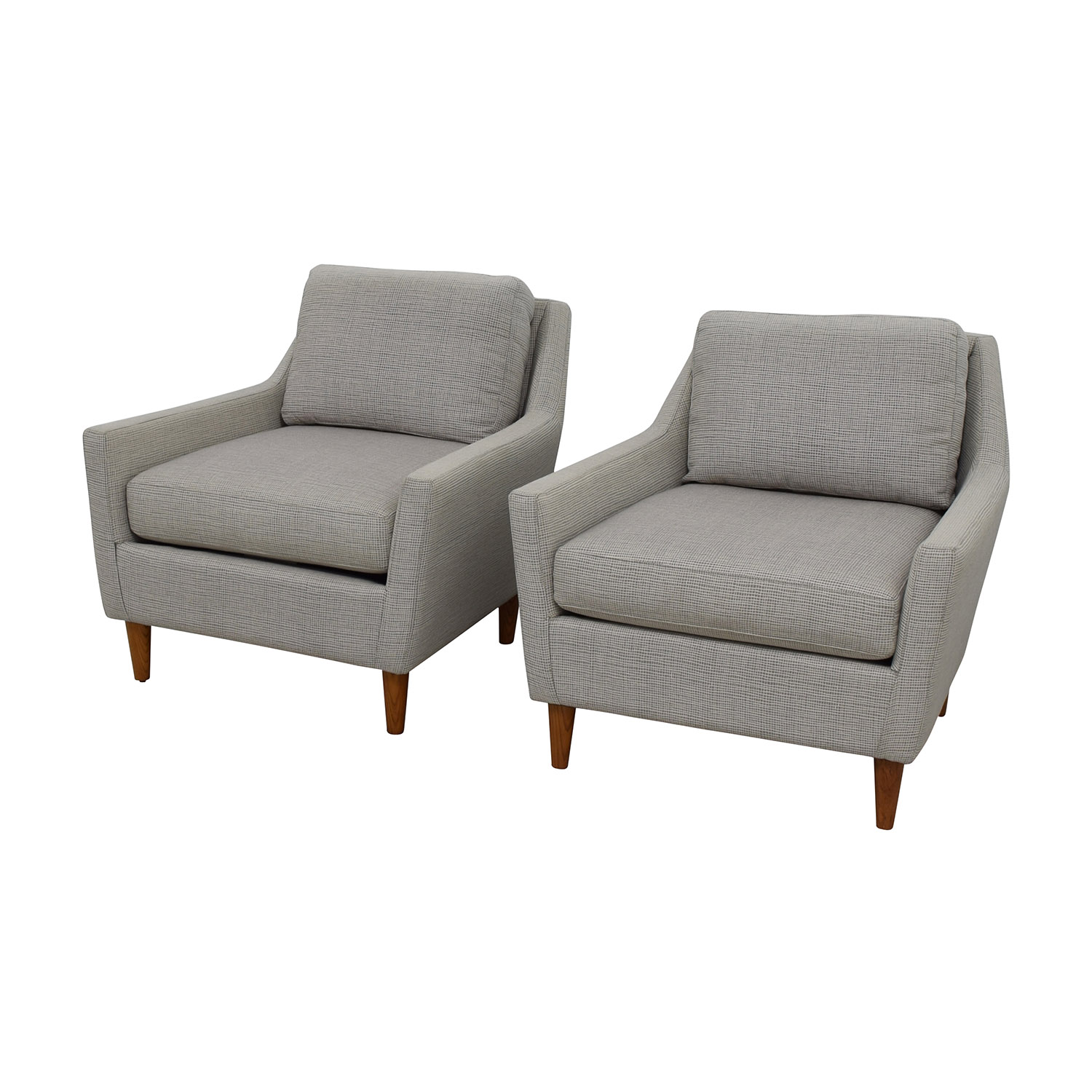 west elm everett chair lounge material 60 off grey arm chairs shop online
