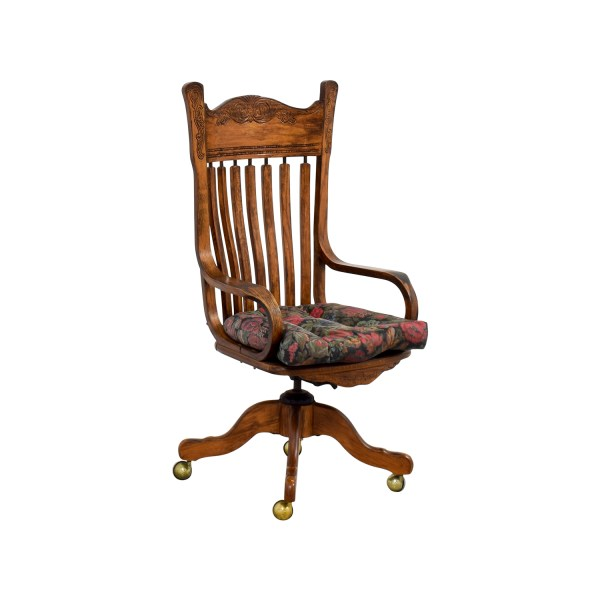 wooden office desk chairs 47% OFF - Wooden Desk Chair on Casters / Chairs