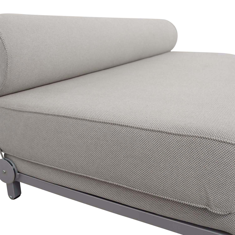 dwr sleeper sofa super store fire video 56 off design within reach grey