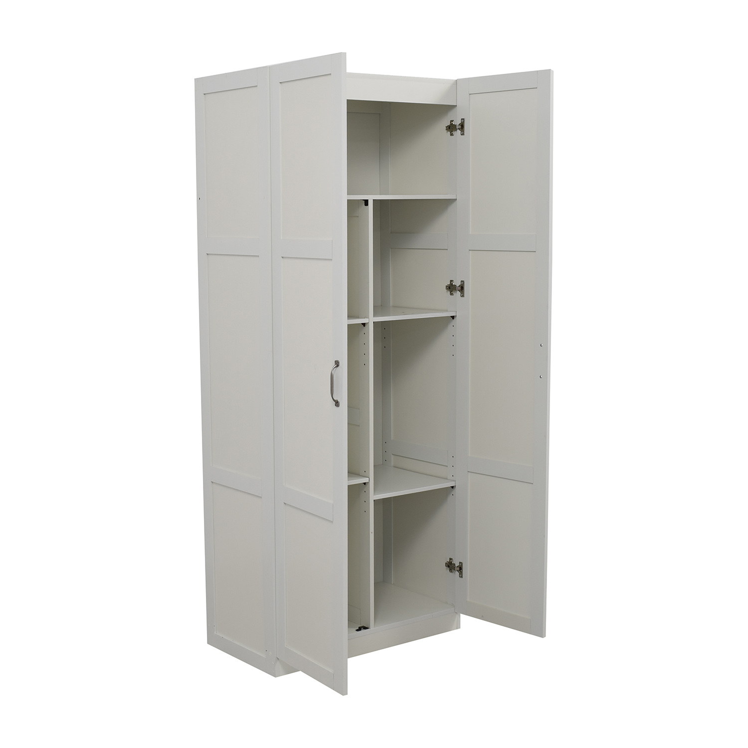used kitchen cabinets for free open sink 35 off white pantry storage