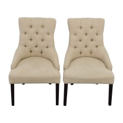 White Tufted Chairs Desk Chair Mesh Seat 50 Off Raymour And Flanigan